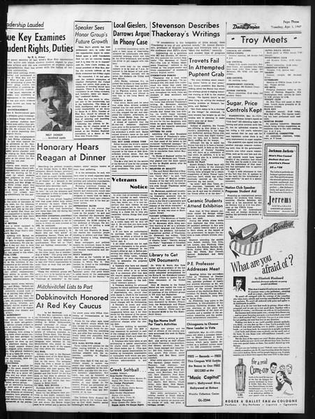 Daily Trojan, Vol. 38, No. 107, April 01, 1947
