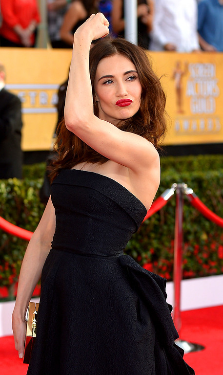 . Carice Van Houten arrives at the 20th Annual Screen Actors Guild Awards  at the Shrine Auditorium in Los Angeles, California on Saturday January 18, 2014 (Photo by Michael Owen Baker / Los Angeles Daily News)