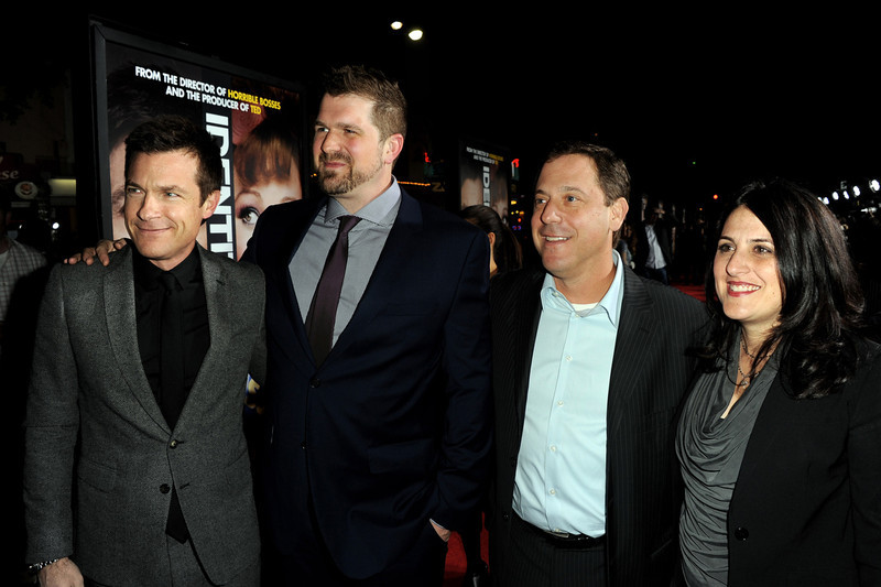 ". Actor Jason Bateman, director Seth Gordon, Adam Fogelson, Chairman, Universal Pictures and producer Pam Abdy arrive at the premiere of Universal Pictures\' ""Identity Theft\"" at the Village Theatre on February 4, 2013 in Los Angeles, California.  (Photo by Kevin Winter/Getty Images)"