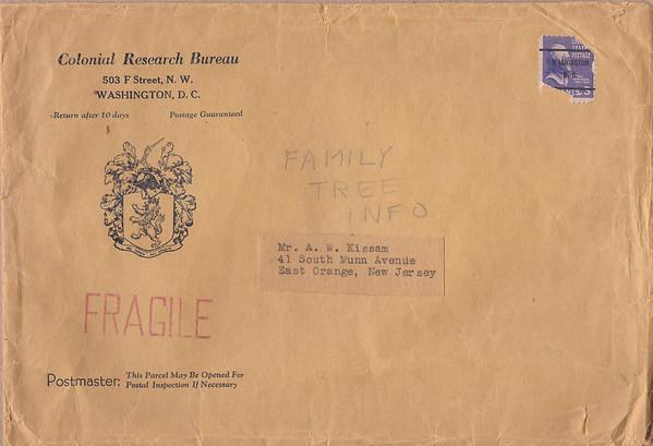 1915 Kissam Genealogical Queries