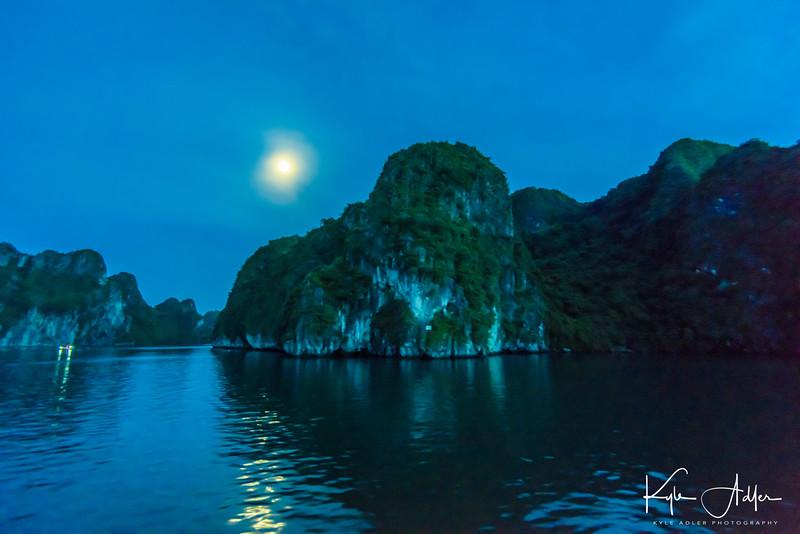 Nighttime on Halong Bay.