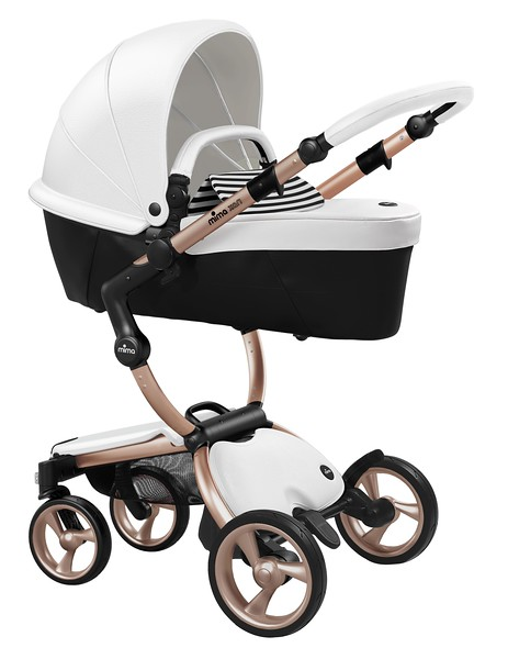 Mima_Xari_Product_Shot_Snow_White_Rose_Gold_Chassis_Black_And_White_Carrycot.jpg