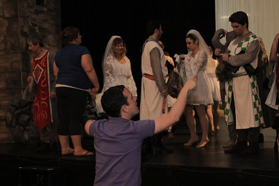 Spamalot Behind Scenes and Fire Drill