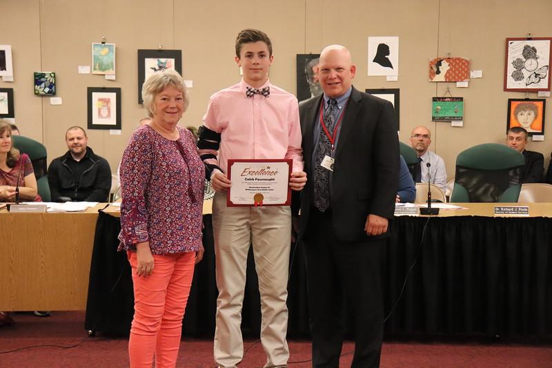 Caleb Fausnaught, eighth grade, WAMS