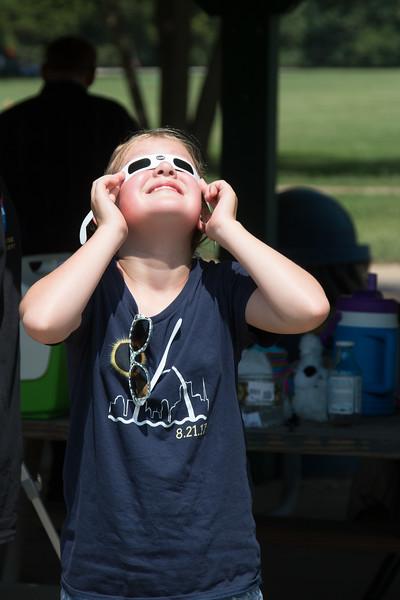 Total solar eclipse, Buder Park, southwest St. Louis County, MO, Aug 21, 2017.