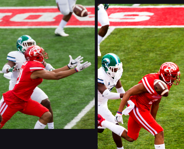 An incomplete pass to UH's Chance Allen