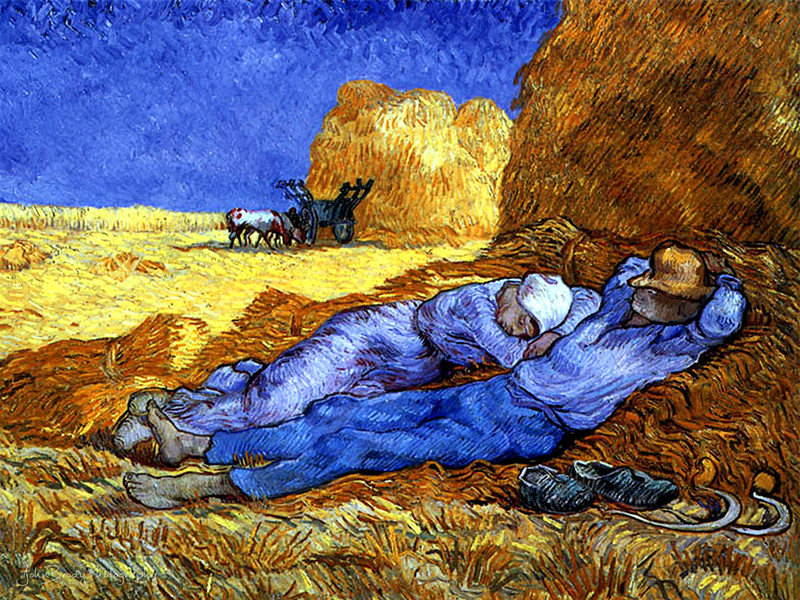 Vincent Van Gogh - Noon Rest - Taken at the D'Orsay Museum, Paris, France - John Brody Photography --- JohnBrody.com