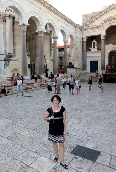 Peristyle - the central square of the Palace — at Diocletian's Palace.