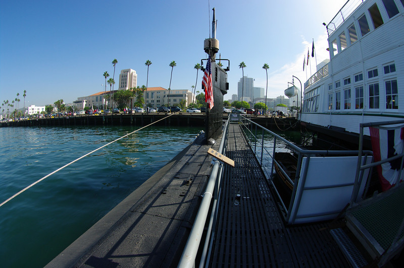 USS Dolphin and the steam powered ferry boat Berkeley.