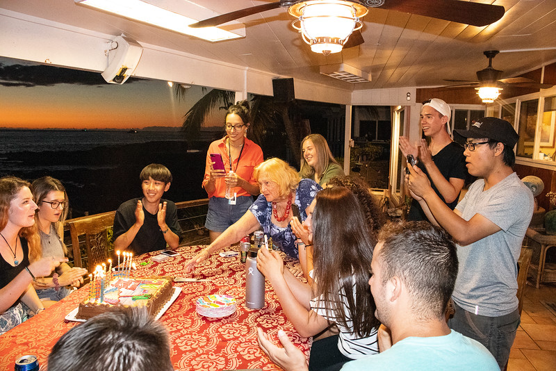 Her granddaughter, Rosemary Dorf, is having her 18th birthday.  There are a lot of young people  here from Fire and Fragrance .  They have an awesome time!!!  Rosemary loves to let her home be used for special occasions