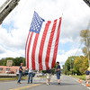CT United Ride Hook and Ladder and SHVFD raise flag over route 25