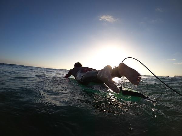 Surfing Scottie & Caz June 17