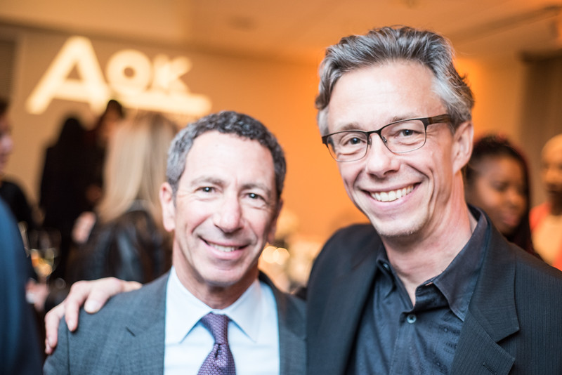 Craig Beden, David Simpson, First Annual All Our Kids Awards Dinner, AOK, at Sixth & I, February 15, 2018, photo by Ben Droz.