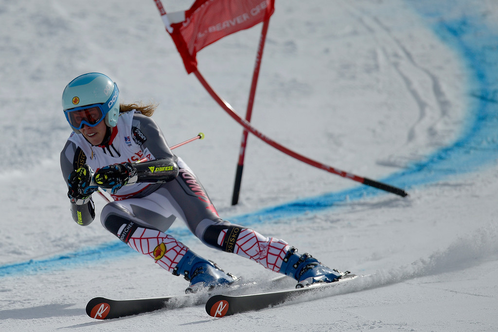 . BEAVER CREEK, CO - FEBRUARY 12: Marie-Michele Gagnon of Canada competes during the ladies\' giant slalom. FIS Alpine World Ski Championships 2015 on Thursday, February 12, 2015. (Photo by AAron Ontiveroz/The Denver Post)