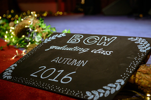 BCW Graduation, Autumn 2016