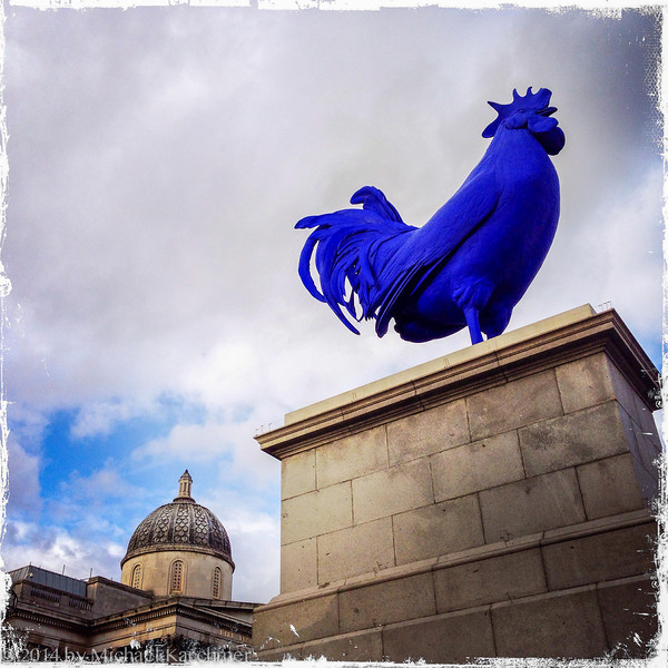 Blue Rooster at the National Gallery, Trafalgar Square (May, 2014)