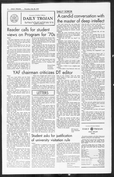 Daily Trojan, Vol. 61, No. 81, February 26, 1970