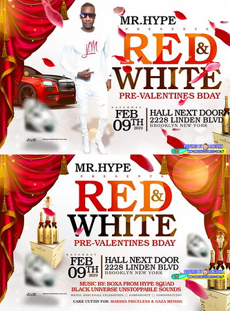 "GIZZY HYPE ""RED & WHITE AFFAIR 2019""(150)"