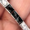 Art Deco Diamond & Onyx Bracelet 19