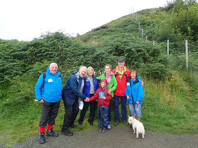 Volunteers visit Brian Burnie on epic Walk on Skye