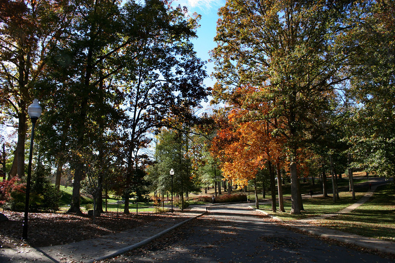 The campus of Gardner-Webb University on a Fall day.