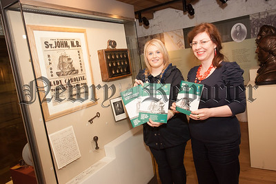 Chairperson of Newry, Mourne and Down DC Naomi Bailie is pictured with Museum Curator Noreen Cunningham. R1538005