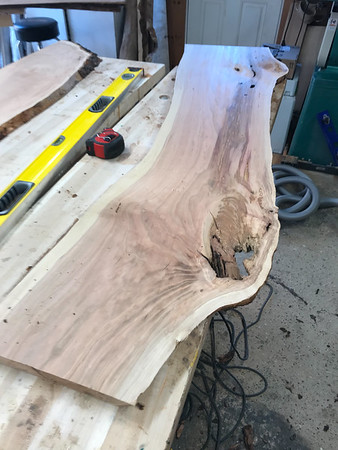 Cherry Curved Bench