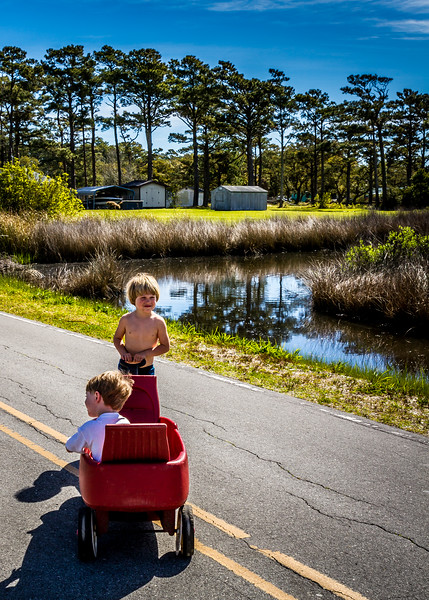Kids playing in road