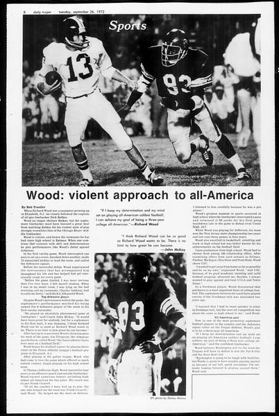 Daily Trojan, Vol. 65, No. 7, September 26, 1972