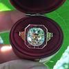 3.12ct Old European Cut Diamond Ruby Halo Ring, GIA L  18