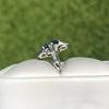 1.41ctw Art Deco Style Aqua and Diamond Dinner Ring 3