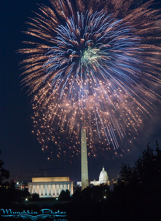 Fireworks from Netherlands Carillon ( July 4, 2014)