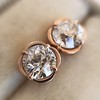 .74ctw Transitional Cut Diamond Earrings, Yellow Gold 17
