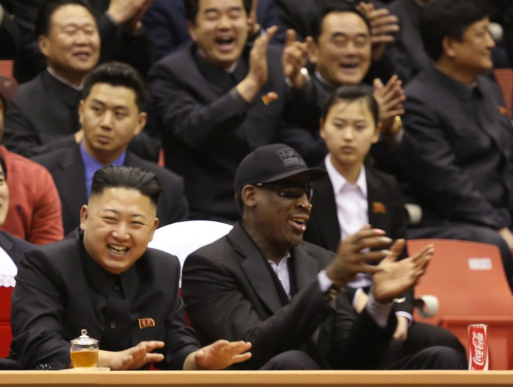 ". <p>7. DENNIS RODMAN  <p>Nothing helps you deal with boredom quite like a dozen kamikazes. (unranked) <p><b><a href=\'http://www.cnn.com/2014/01/31/us/dennis-rodman-interview/\' target=""_blank\""> HUH?</a></b> <p>    (AP Photo/VICE Media, Jason Mojica)"