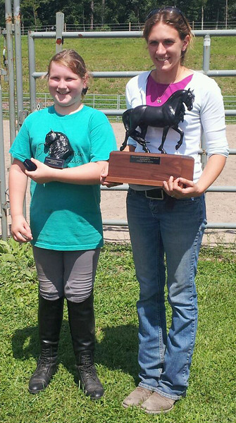 Trophies, Shlei and Jessica, Horses, New Ringgold (8-21-2013)