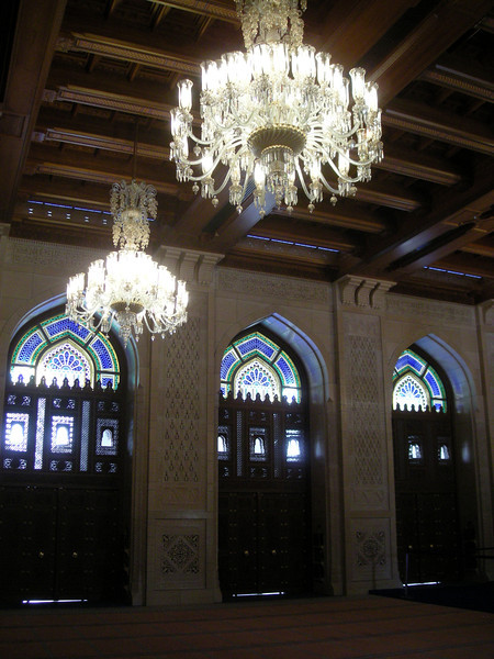 inside the Grand Mosque, Muscat