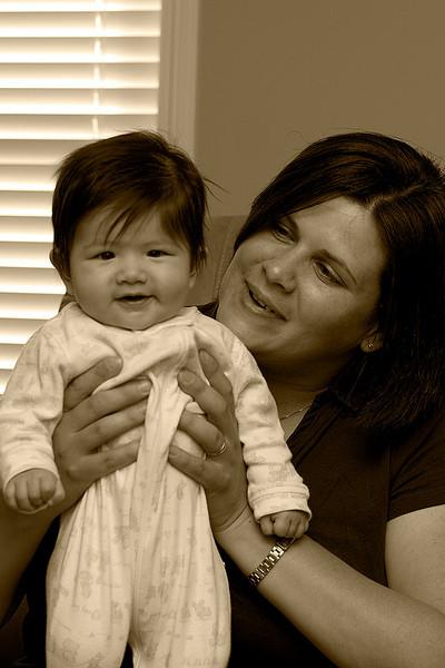 Julia was 114 days old on Darcie's birthday