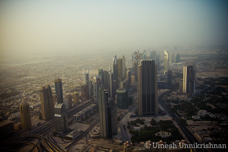 All those tall buildings on Shaikh Zayed Road - not so hot from the top of the Burj