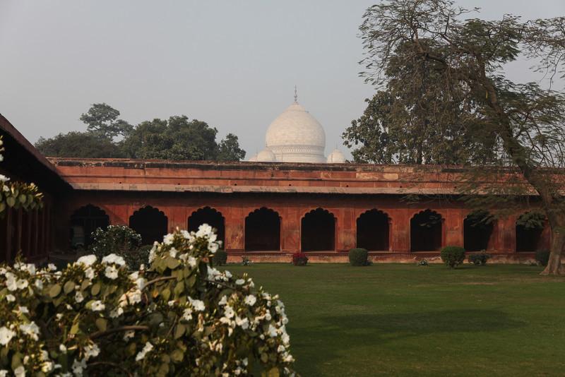 The first glimpse of the Taj Mahal.