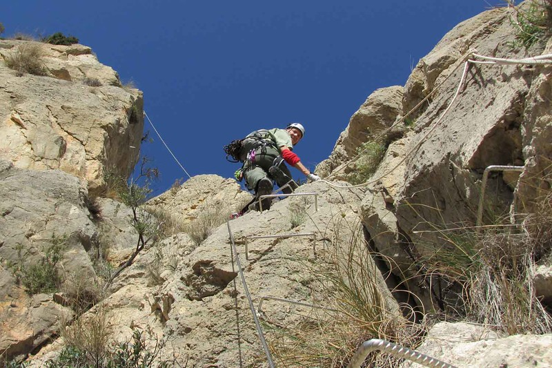 Topping the Figuerets Via Ferrata