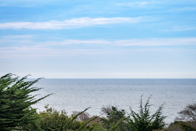 Telephoto View of Ocean from Back Deck