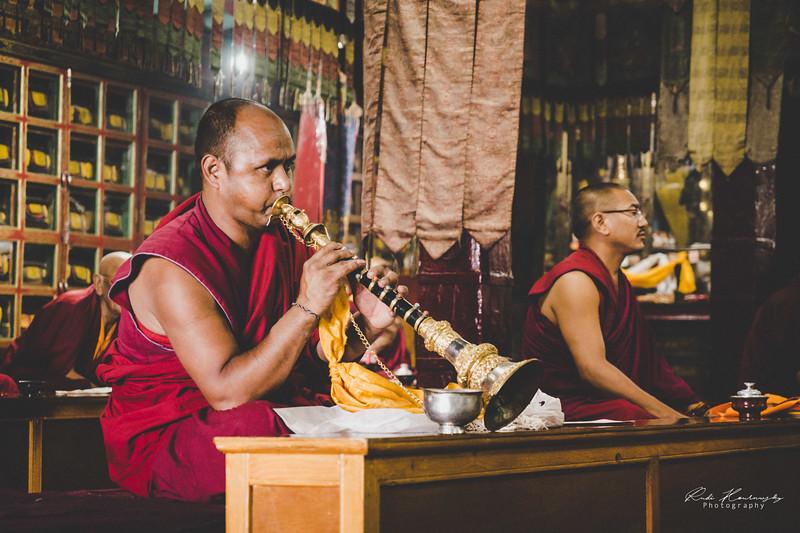 Monks in Spituk Monastery
