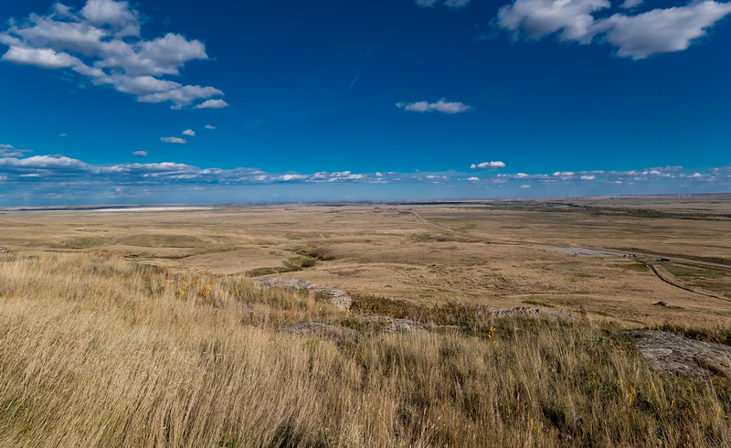Prairie vista from the viewing platform