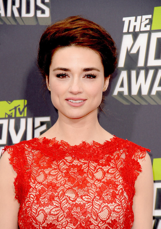 . Actress Crystal Reed arrives at the 2013 MTV Movie Awards at Sony Pictures Studios on April 14, 2013 in Culver City, California.  (Photo by Jason Merritt/Getty Images)