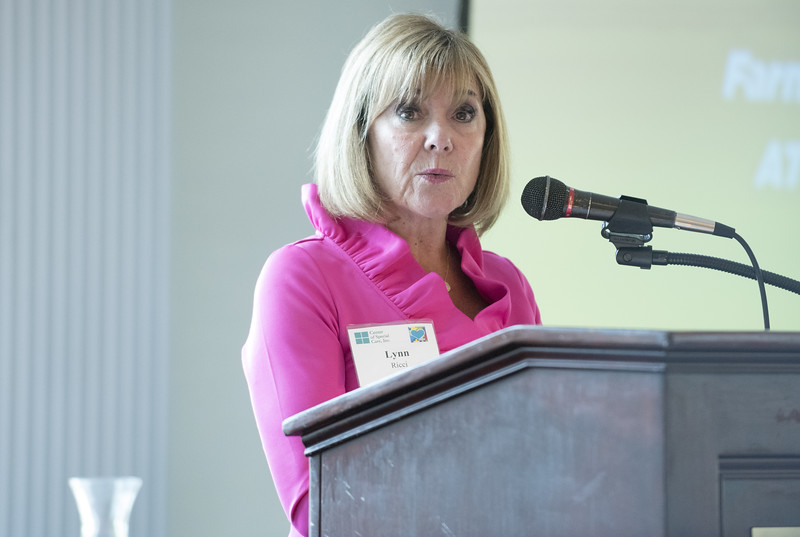 06/12/19  Wesley Bunnell | Staff  Lynn Ricci, FACHE President and CEO speaks to attendees during the Center of Special Care meeting on June 12, 2019 at the Aqua Turf in Southington.