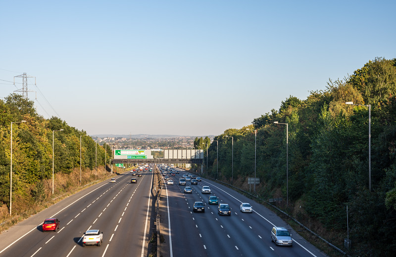 A2 motorway at Ebbsfleet