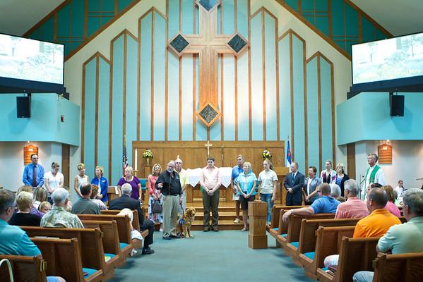 K-9 Comfort Dog Bekah - Leash Passing Immanuel Lutheran Church, Belvidere, IL