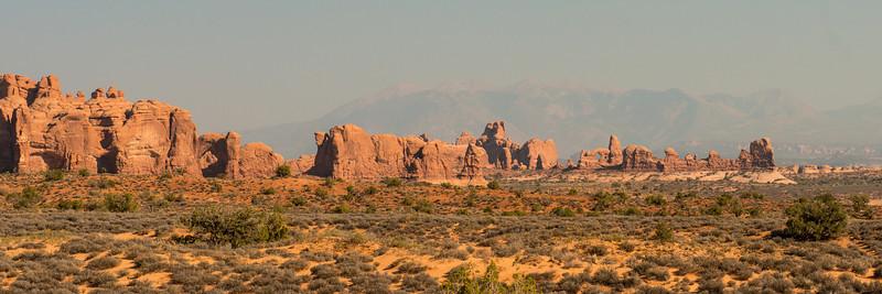 The landscape near balance rock