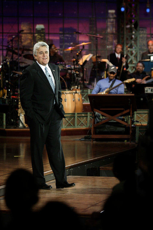 . In this photo provided by NBC, Jay Leno is seen during his final taping as host of The Tonight Show on Friday, May 29, 2009, in Burbank, Calif. (AP Photo/NBC, Paul Drinkwater) **MAGS OUT, NO ARCHIVING, NO SALES**