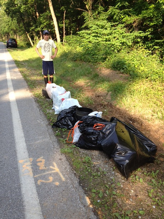 May 2012 Deep Run Cleanup Along Race Road With Jack & Tom Flynn